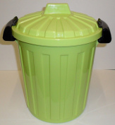 STORAGE - WASTE - RECYCLING - KITCHEN - BEDROOM - BIN 7 LITRE WITH CLIP ON LID - GREEN