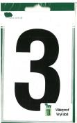 Wheelie Bin Number Black 3