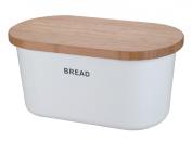 Zeller 25351 Bread Box 39x23x18.5 cm White Melamine/Bamboo