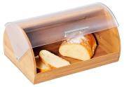 Kesper 18580 Bamboo Bread Bin with Acrylic Lid