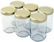 24 Small, Clear Jam or Spice Jars, 156ml