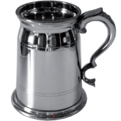 Pewter Quart Tankard 2 Pint Old London Style with Double Lines