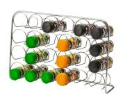 Hahn Pisa 24 Jar Spice Rack, Chrome