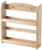 Wall Spice Rack in Hevea with Fixings