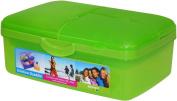 Sistema Slimline Quaddie Lunch Box, Lime