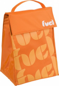 Trudeau Fuel Triangle Insulated Lunch Bag, Orange