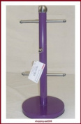 Stainless steel Mug Tree Kitchen Roll Holder Glass Paper Holder Purple New
