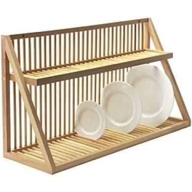 wall mounted wooden plate rack large by heals shop online for homeware in australia. Black Bedroom Furniture Sets. Home Design Ideas