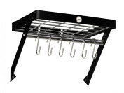 Hahn Metro Metal Wall Rack, Black
