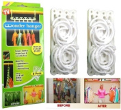 As Seen On TV Wonder Hangers - Save Space In Your Wardrobe And Cloakroom Closet - Pack of 8