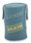 Gedy Strong Laundry Basket with Handles Turquoise 66 Litres - Dia. 38x High 58 cm CO38-11