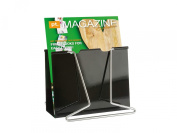 PT Giant Clip Steel Magazine Rack, Black