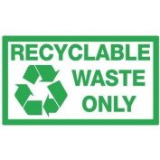 Recyclable Waste Bin Sticker - Recycling Premium Quality Sticker - The Sticker Shop
