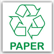 Paper Recycling Adhesive Sticker-Recycle Logo Sign-Environment Label