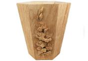 Handmade Natural Bark Flaura Waste Paper Basket