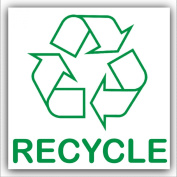 Recycle Adhesive Sticker-Recycle Logo Sign-Environment Label