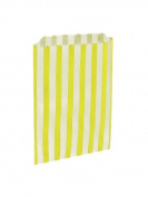 50 x Sky Blue & White Candy Stripe / Striped Paper Sweet Party Bags - 13cm x 18cm