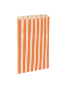 75 x Gold & White Candy Stripe / Striped Paper Sweet Party Bags - 18cm x 23cm