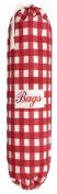 Large Red Gingham Plastic Bag Holder
