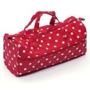 HobbyGift Knitting/Craft Bag - Red & White Spot