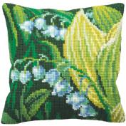 Muguet Droite Pillow Cross Stitch Kit-38cm - 1.9cm x 40cm