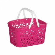 Cestino Hot Pink Storage Basket With White Plastic Handles & 2.4 Ltr Capacity
