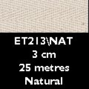 Herringbone Tape [25mx30mm / Natural]