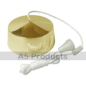 Bathroom Pull Cord Ceiling Switch 6 Amp 2 Way Brass Effect