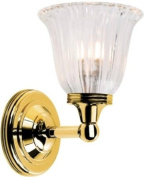 Elstead Lighting BATH/AUSTEN1 PB Polished Brass Austen1 One Light Modern Bathroom Wall Sconce With Glass