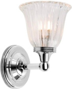 Elstead Lighting BATH/AUSTEN1 PN Polished Nickel Austen1 One Light Modern Bathroom Wall Sconce With Glass
