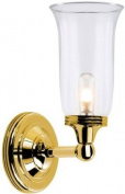 Elstead Lighting BATH/AUSTEN2 PB Polished Brass Austen2 One Light Modern Bathroom Wall Sconce With Globe Glass