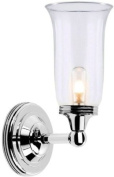 Elstead Lighting BATH/AUSTEN2 PN Polished Nickel Austen2 One Light Modern Bathroom Wall Sconce With Globe Glass