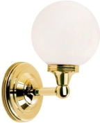 Elstead Lighting BATH/AUSTEN4 PB Polished Brass Austen4 One Light Modern Bathroom Wall Sconce With Round Glass