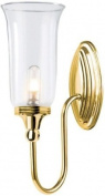 Elstead Lighting BATH/BLAKE2 PB Polished Brass Blake2 One Light Modern Bathroom Wall Sconce With Globe Glass