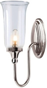 Elstead Lighting BATH/BLAKE2 PN Polished Nickel Blake2 One Light Modern Bathroom Wall Sconce With Globe Glass