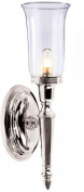 Elstead Lighting BATH/DRYDEN2 PN Polished Nickel Dryden2 One Light Modern Bathroom Wall Sconce With Glass