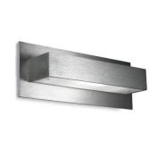 Leds C4 Grok Indoor Lighting ALU I Wall Light, Aluminium with Tempered Satin Glass
