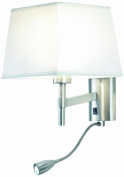 Leds C4 La Creu Indoor Lighting Bristol LED Wall Light, Satin Nickel