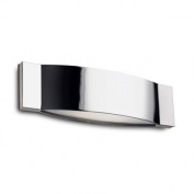 Leds C4 La Creu Indoor Lighting Slimm Wall Light, Optic Glass, Chrome