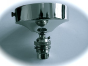 004 Chandelier Chrome Finished Ceiling rose and lamp Holder with Shade Ring 004