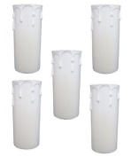 5 x Plastic Candle Drip 26mm x 71mm Cover for Chandelier SP210PP