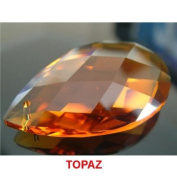 TOPAZ 51mm x 33mm Almond or Pear Shaped 30% Lead Crystals for Chandelier, Ceiling light, Feng shui, Christmas Tree , Window display, Wedding Display, Curtains .. etc..
