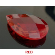 RUBY RED 51mm x 33mm Almond or Pear Shaped 30% Lead Crystals for Chandelier, Ceiling light, Feng shui, Christmas Tree , Window display, Wedding Display, Curtains .. etc..