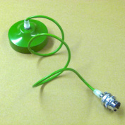 005 Green 1mt Cable Chandelier Green Finished Ceiling Rose, Cable & lamp Holder With Shade Ring, Pendant Set for lampshade, lampshades ..
