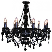 Black Venetian Rococco Style 9 Light Chandelier