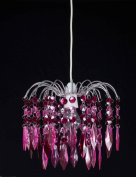 Pink Diamond Fountain Drop Acrylic Pendant Chandelier Light Fitting