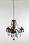 Reality Leuchten R11073002- Chandelier 3 Bulbs / 3x E14 max 40 W (not included) Diameter 40 cm Black Acrylic