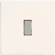 Rocker Switch, Premium White, Screwless Flat Plate 1 gang 2 way 10 amp, XDQ1S