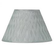 "Laura Ashley Criss Cross Ribbon Faux Silk Ceiling Light Pendant / Lamp Shade - 30 cm / 12"""