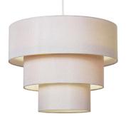 Modern 3 Tier Cream Fabric Ceiling Pendant Light Shade